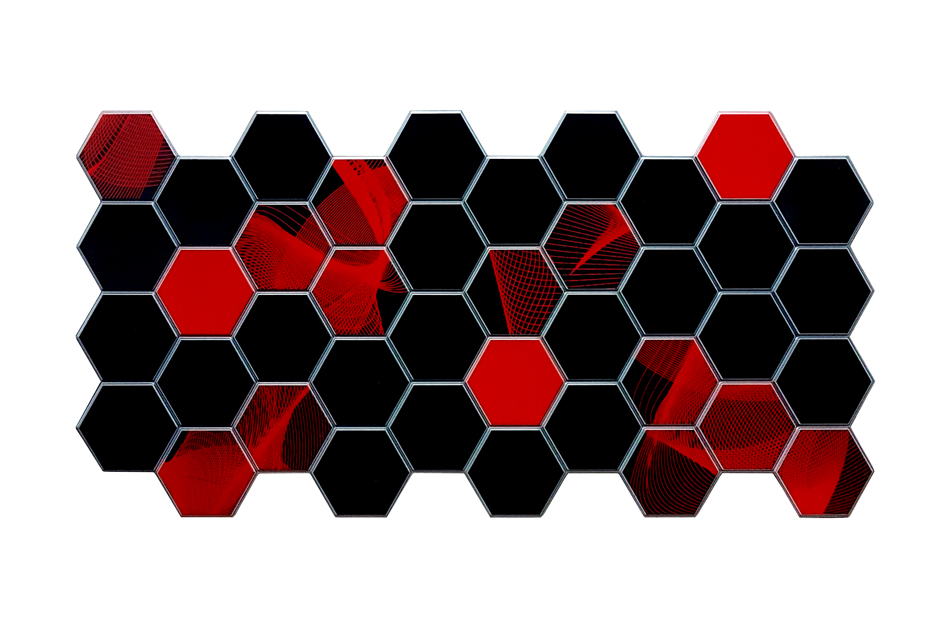 Hexagon PVC falpanel